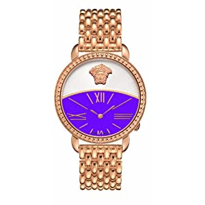 Versace Women's 93Q80D702C S080 Krios Purple Dial IP Rose-Gold Bracelet Watch