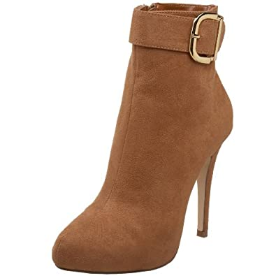 Michael Antonio Women's Macey Ankle Boot,Tan Suede Synthetic,8 M US