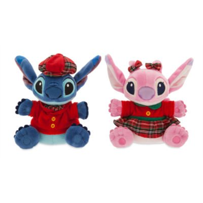 authentic-disney-store-festive-christmas-stitch-and-angel-pair-small-soft-plush-dolls-toy-set