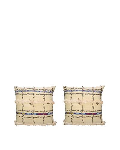 Uptown Down One-of-a-Kind Set of 2 Turkish Wedding Blanket Throw Pillows