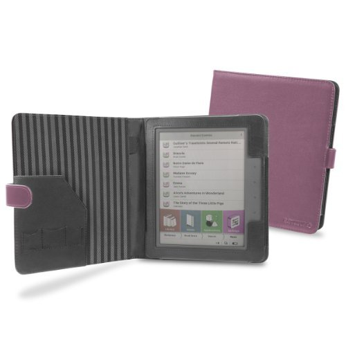 Cover-Up PocketBook Color Lux eReader Cover Case (Book Style) - Purple at Electronic-Readers.com