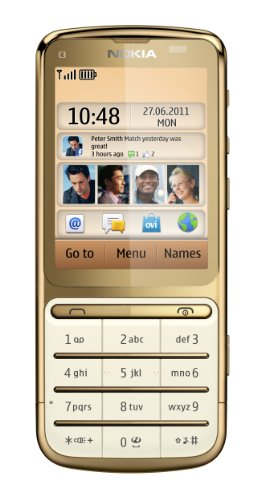 Nokia C3-01 Sim Free Mobile Phone - Gold Black Friday & Cyber Monday 2014