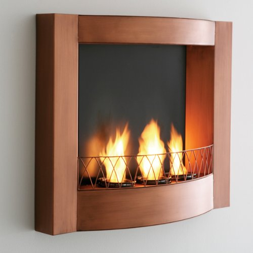 Southern Enterprises Morris Copper Wall Mount Gel Fuel Fireplace picture B00578RXWS.jpg