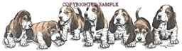 Basset Hound - Puppies in a Row by Cindy Farmer
