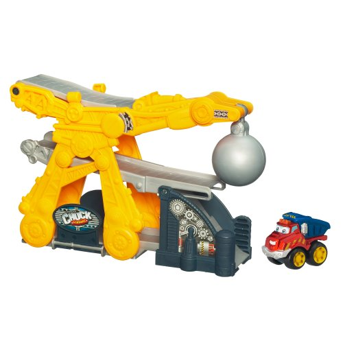 Tonka Chuck Mini Fold N Go - Wrecking Ball with Chuck - 1