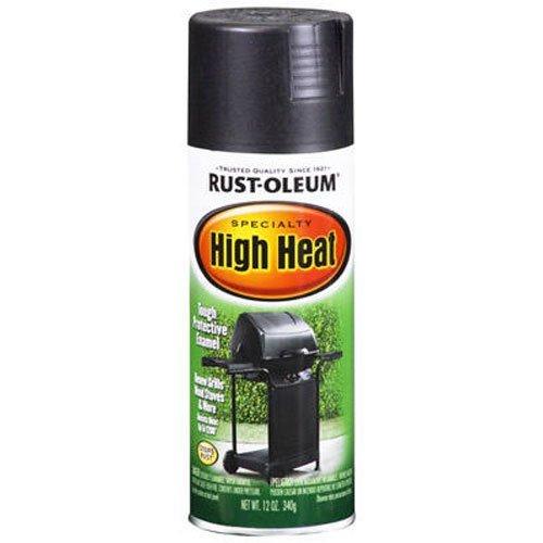 Rust-Oleum 7778830 High Heat Enamel Spray, Bar-B-Que Black, 12-Ounce (Hi Temp Flat Black Paint compare prices)