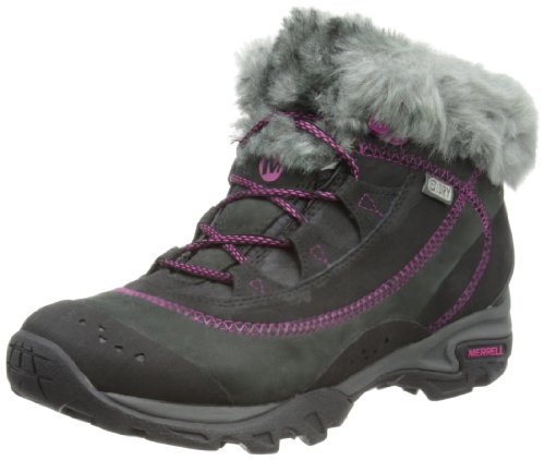 Merrell Womens Snowbound Drift Mid WTPF J48362 Black Trekking and Hiking Boots 8 UK, 41 EU