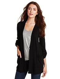 Splendid Women\'s Grandpa Cardigan Sweater, Black, Small