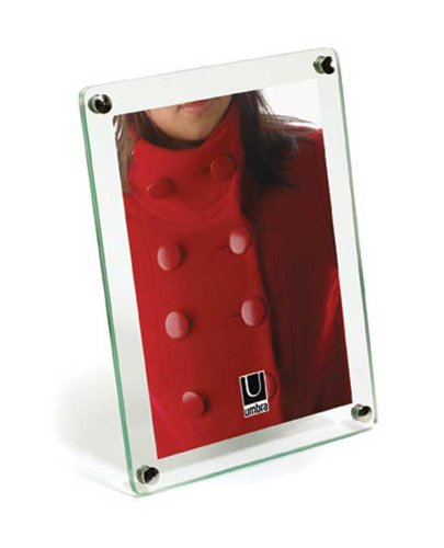 Umbra Clara 5-Inch-by-7-Inch Glass Frame