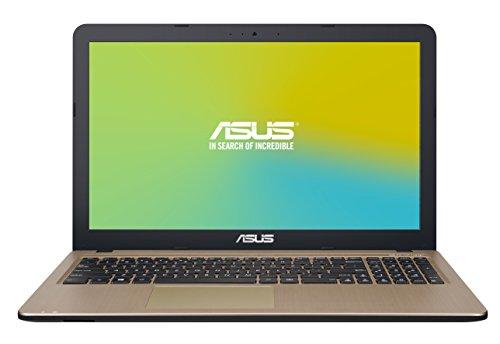 "ASUS D540SA-XX621D - Ordenador portátil de 15.6"" (Intel Celeron N3060, 4 GB de RAM, HDD de 500 GB, Intel HD Graphics 400, DOS Libre), chocolate negro - Teclado QWERTY Español"
