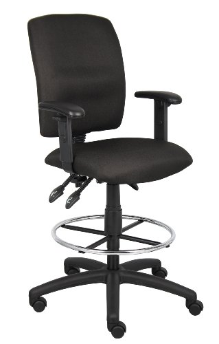 Boss Multi-Function Fabric Drafting Stool with Adjustable Arms