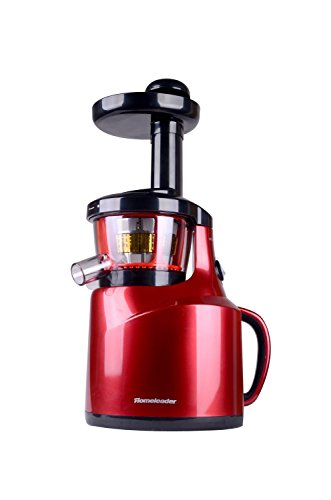 Homeleader® slow juice extractor 150-Watt for all fruit and vegetable, cool bright red (Power Juicer Red compare prices)