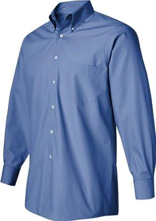 Van Heusen Men'S Easy Care Silky Poplin Dress Shirt (Periwinkle) (S)