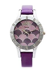 Calvino Women's Purple Dial Watch CLBSDM-F21_Purple Purple