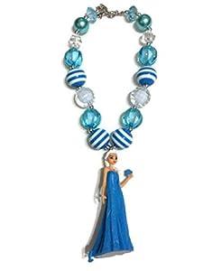 KWC - Chunky Bubblegum Beads Necklace Baby Girls - Queen Elsa Frozen Inspired