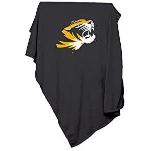 Missouri Tigers NCAA Sweatshirt Blanket Throw by Logo Chair