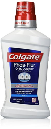 Colgate Phos Flur Anti Cavity Fluoride Rinse, Cool Mint