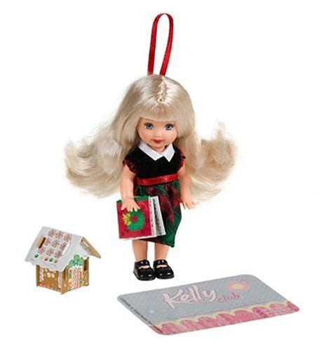 Imagen de Kelly Holiday Doll: Traje rojo y verde con accesorios Ginger Bread House