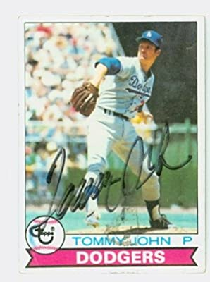 Tommy John AUTOGRAPH 1979 Topps #255 Los Angeles Dodgers