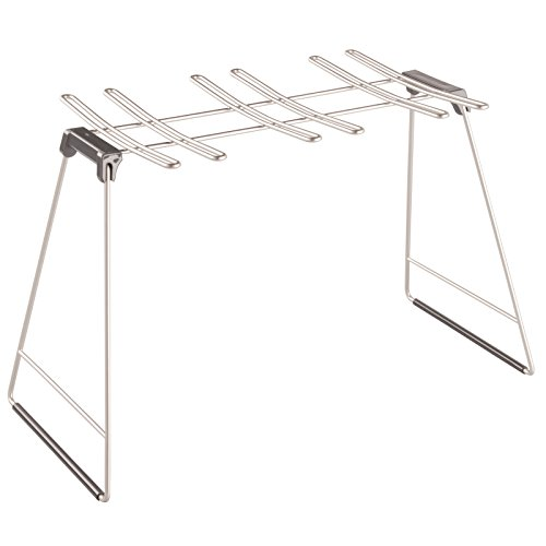InterDesign Classico Free Standing Wine Glass Drying Rack for Kitchen Countertops - Holds 6 Glasses, Satin (Soda Shoppe Glasses compare prices)