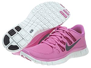 The Womens Nike Free 5.0+ Running Shoe Red Violet/Bright Magenta/Summit White/Iron Ore Size 8