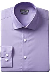 Kenneth Cole Reaction Men's Slim-Fit Chambray Dress Shirt