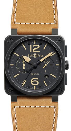 NEW BELL & ROSS BR 03-94 HERITAGE CHRONOGRAPHE AUTOMATIC WATCH BR03-94-HERITAGE
