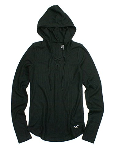 hollister-womens-must-have-lace-up-supersoft-waffle-hoodie-ho4-x-small-black