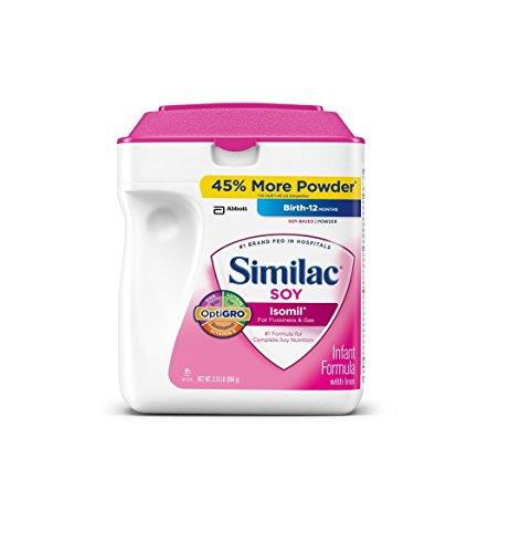 Similac Soy Isomil Baby Iron Powder Formula Milk Free 34 Oz. (50825)
