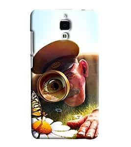 Blue Throat Police Men Identifying Printed Designer Back Cover/ Case For Xiaomi Mi4