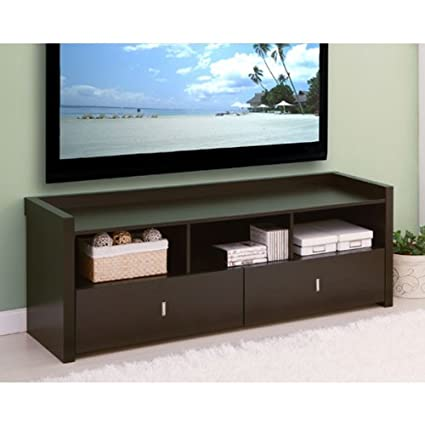 Vinnie Coffee Bean Finish Storage Entertainment Console TV Stand