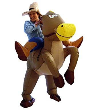 Inflatable Cowboy Fancy Dress Costume
