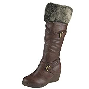 Women Winter Boots Comfy Moda Julia (9, Brown)