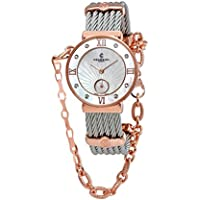 Charriol St. Tropez Round Steel Watch with Diamonds, 30mm