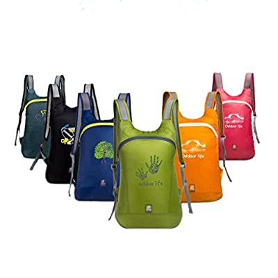 Liying® Super Lightweight Unisex Sports Folding Backpack Waterproof Outdoor Traveling Storage Bag Mountaineering Backpack Hiking Camping Cycling Shoulders Bag Trekking Rucksack