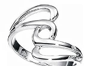 Twisty Silver Thumb Ring Sizes 6 up to 12 Available You Choose (6)