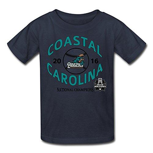 Youth's Coastal Carolina Chanticleers NCAA Champions Logo T-shirt Navy