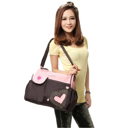 Womens Casual Urinal Pad Waterproof Diaper Bag, One Size,Pink front-39472