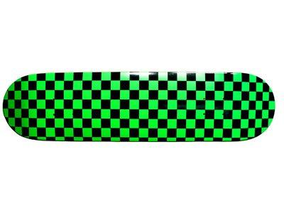 Grün-Kariertes Moose Skateboard Deck 7.63