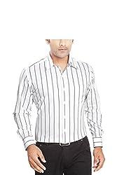 Boonplush-Men's - formal shirt (Black stripes)-38