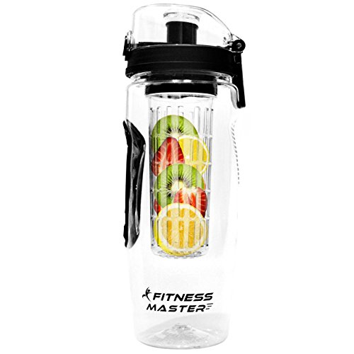 Infuser Water Bottle - Premium Quality - For Detox and Infused Hydration - 32 Oz, Leak Proof, BPA Free, Tritan Plastic, Fruit Infusion & Sports Tumbler (32 Ounce Glass Pitcher With Lid compare prices)