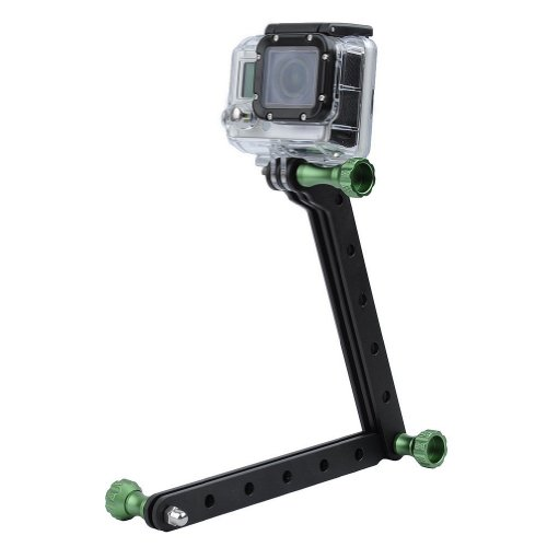 Bluefinger Cnc Aluminum Arms And Screw For Gopro Hd Hero3(With Green Screw)