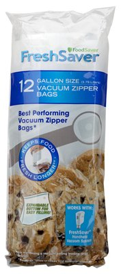 Vac Zip Bags Gl 12pk (Foodsaver 1 Gallon Bags compare prices)