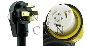 50 Foot 50 Amp RV Power Cord with Marinco Twist Lock Connector - Detachable