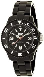 ICE-Watch - Montre Mixte - Quartz Analogique - Ice-Solid - Black - Small - Cadran Noir - Bracelet Plastique Noir - SD.BK.S.P.12