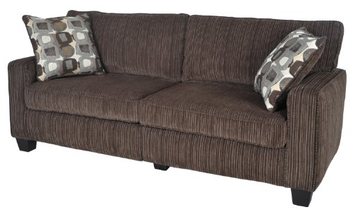 Serta Cr-43535Pb San Paolo Collection 73Inch Sofa, Mink Brown Fabric front-640116