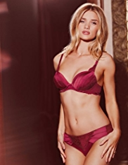 Rosie for Autograph Silk Padded Plunge A-E Bra with French Designed Rose Lace