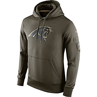 CAROLINA PANTHERS Salute to Service Hoodie Sweatshirt Nike 2XL 2015