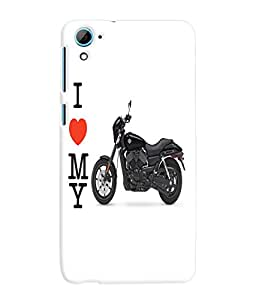 Fuson 3D Printed Ducati Bike Designer Back Case Cover for HTC Desire 826 - D781