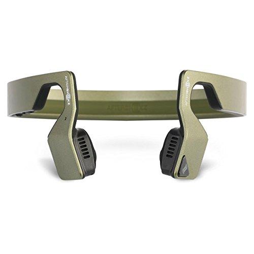 Aftershokz Bluez 2S Wireless Bone Conduction Bluetooth Headphones, Green Metallic, (AS500SM)